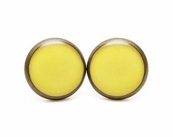 Yellow Earrings Lemon Zest Stud earrings Lemon Jewelry  Spring Color 2013 Yellow Color Gentle Soft Delicate Smooth Pastel Earrings