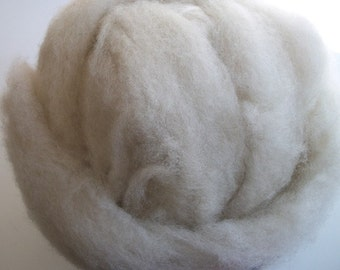 Natural white Shetland wool roving for spinning, undyed wool roving, undyed Shetland roving 4oz.