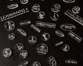 100 médaillons en plexiglas transparent gravés / gravez votre logo-marque sur vos produits / tags personnalisé / gravure laser /