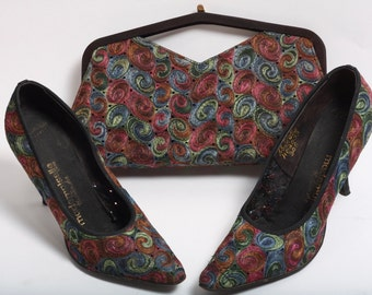 1950's Mademoiselle Heel and Purse Set (Size 7.5)