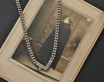 1950s Rhinestone V Necklace