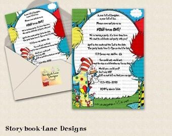 First Birthday- Seuss Invitation