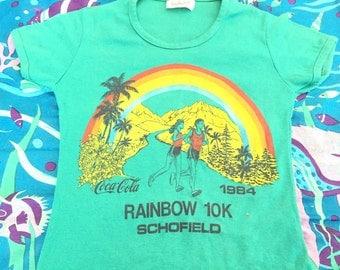 1984 Rainbow 10k Schofield Coca Cola Vintage T Shirt