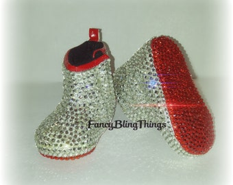 Crystal Bling Baby Crib Boots