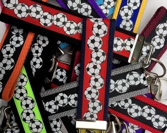 SOCCER Custom Key Soccer Mini Key Fob Soccer Key Chain Soccer Team Gift Soccer Coach Soccer Keychain Soccer Gifts Soccer Mom Gift for Soccer