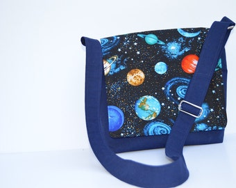 Kids Messenger Bag - Planets