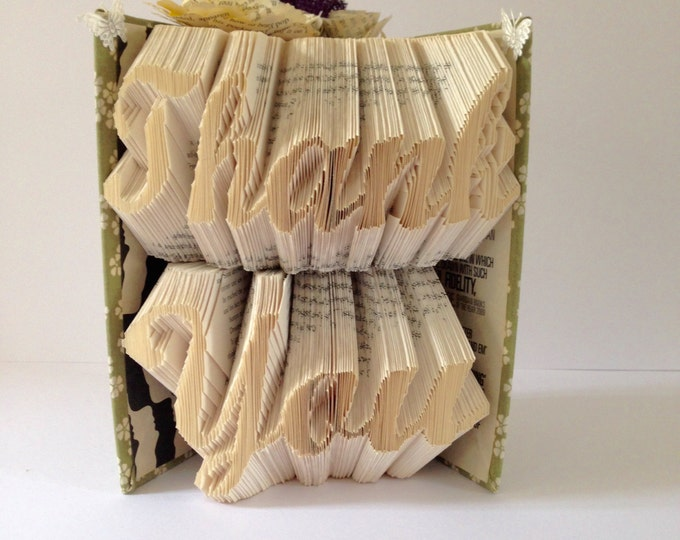 THANK YOU -Book folding art, Wedding, Gift, Special Ocassion