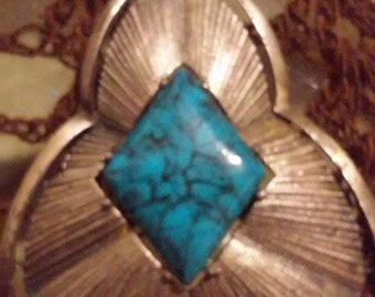 Vintage Turquoise silver pendant