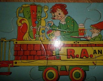 Raggedy Ann, Raggedy Andy, Train puzzle, Rare 1930s puzzle with all the Characters-Beloved Belindy, Marcella, Saggy Camel, Johnny Gruelle