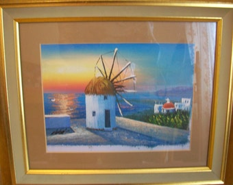 Original Vintage Signed Scenic Oil Painting, ready to hang, Framed and mounted