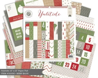 CLEARANCE! Pink Paislee Yuletide 6x6 Paper Pad - 36 Sheets