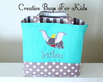Dumbo Diaper Bag/ Dumbo Tote Bag/ Personalized Dumbo Tote Bag/ Elephant mommy bag/ Nappy bag/ Changing bag/ Baby bag