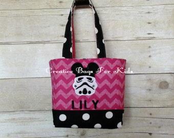 Star Wars Lunch Bag/ Star Wars Tote Bag/ Storm Trooper Tote Bag/ Personalized Star Wars Bag/ Kids tote bag/ Star wars purse