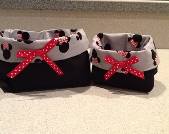 Minnie Mouse Fabric basket set