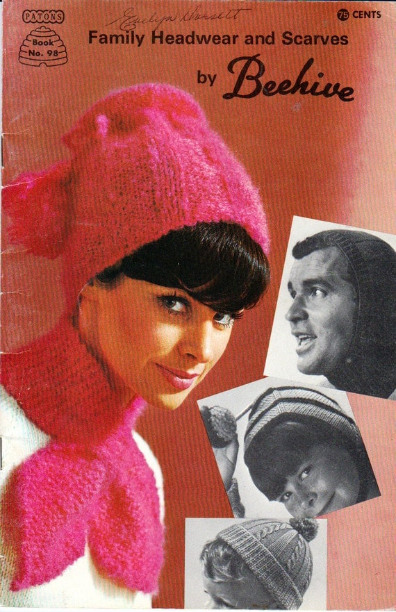 Patons Balaclava Knitting Pattern : Family Headwear and Scarves by Beehive Patons Book 98