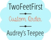 Audrey Custom Canvas Teepee- 4 Sides -*Poles Included*