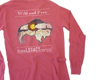 Colorado Wild N Free Buffalo Long Sleeve, Assorted