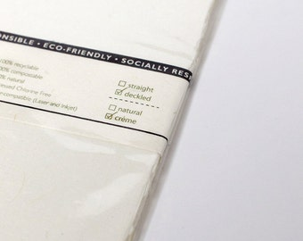 "25 Shts 8.5"" x 14"" Printable Natural Paper (Deckled Edge) (Cream)"
