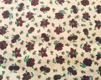 60s vintage retro floral fabric with a lovely pattern. Made in Sweden