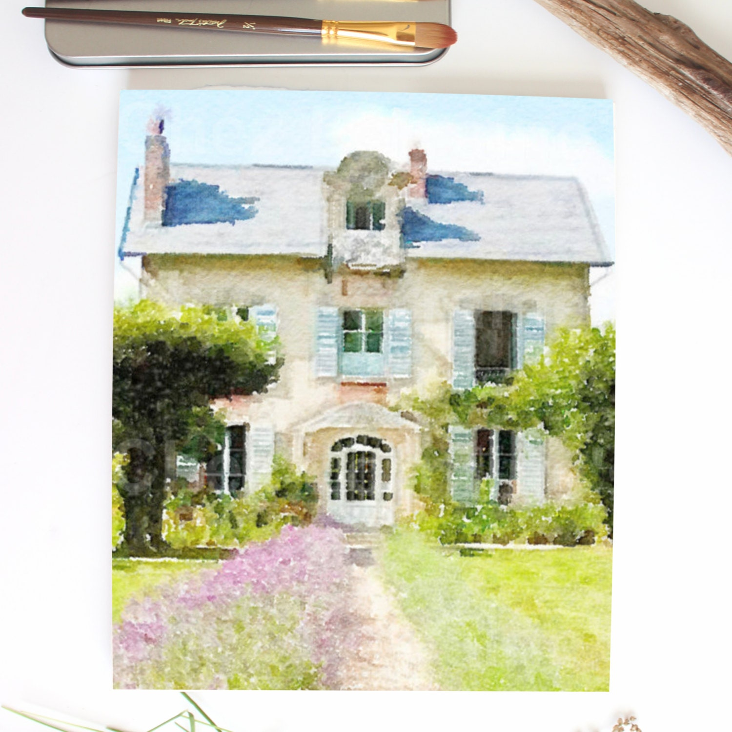 french country cottage in provence lavender floral art