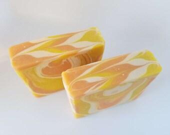 Rise & Shine Soap, Handmade Soap, Cold Process Soap, Bar Soap, Vegan Soap, Palm Oil Free Soap, Orange Juice Soap, Citrus Soap