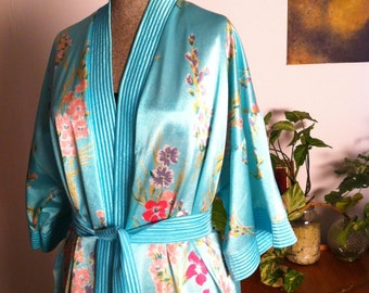Minty Givoni floral morning gown/dressing gown - Vintage - Size 14