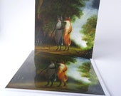 """Single Greetings Card of an original painting: """"The Morning Walk (Loosely after Gainsborough)"""""""""""