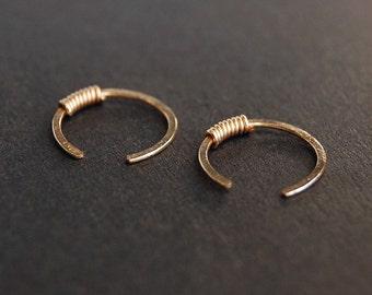 Gold Open Hoop Earrings - gold earrings, gold hoop earrings, minimalist earrings, small hoop earrings, dainty earrings