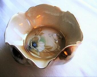 Vintage Porcelain|RIS China|German Porcelain|Fine Porcelain|Bowl|Gold Leaf|Home & Living|Kitchen and Dining|Serving|Made in Germany