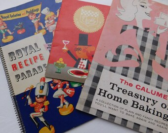 Christmas in July Sale - Vintage Cookbooks Pamphlets Ephemera