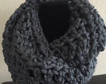 Moonlight gray infinity scarf