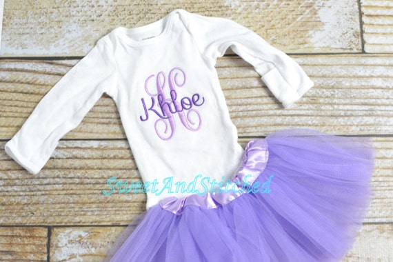 Purple newborn outfit with tutu monogrammed for baby girl, baby girl outfit, shower gift!  Personalized take home outfit, baby layette