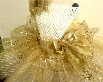 Autumn Gold Elegance Tutu-Ready2Ship Perfect for: Pageant, Outfit of Choice Special occasion, fall, photo shoot, dress-up play