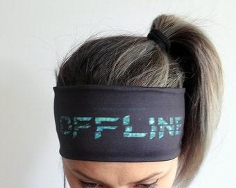 Yoga Headband - Workout Headband - Fitness Headband - Running Headband Boho Headband - Elastic Headband - Offline Headband Y28