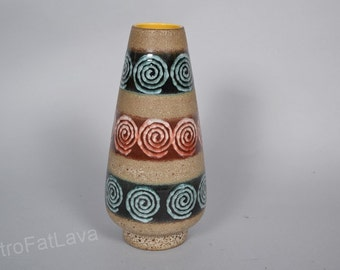 Dümler & Breiden 135/25  West German cone shaped pottery  vase