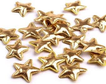 20 stars, gold, 3 cm (505)