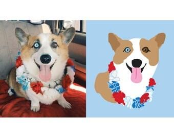 Custom Dog Portrait, Custom Pet Portrait, Custom Dog Illustration, Custom Cat Illustration, Custom Pet Illustration digital