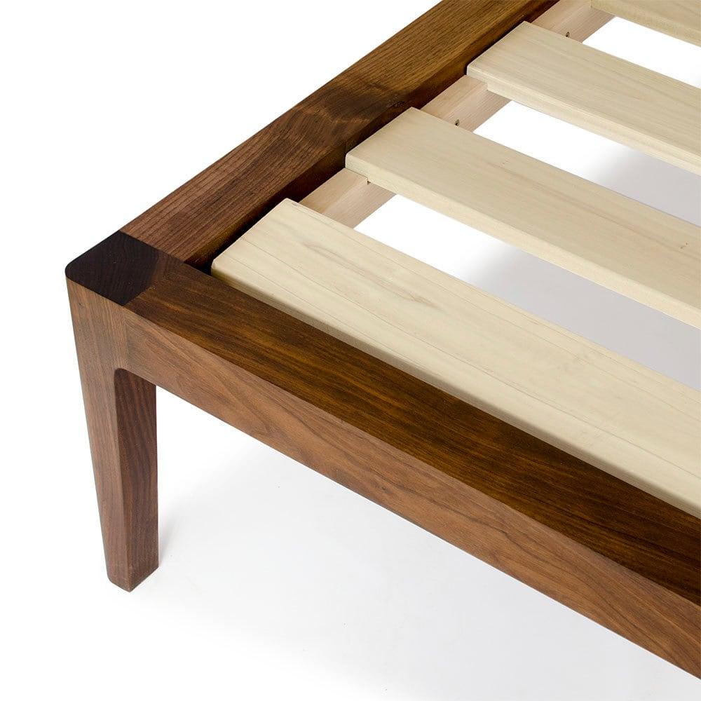 Modern Wood Bed Frames: Walnut Platform Bed No. 1 Modern Wood Bed Frame Twin
