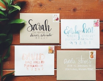 beautiful custom envelope addressing