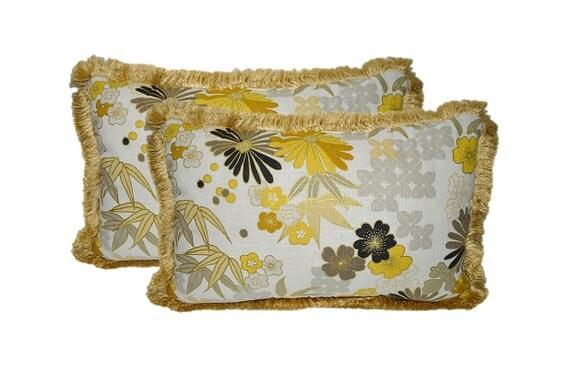 Jumbo Throw Pillows : SET OF 2 Jumbo Lumbar / Rectangle Decorative Throw Pillows