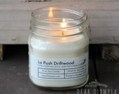 La Push Driftwood -- Handpoured Coffee Soy Wax Candles --Phthalate free fragrance--Mason Jar--Gift---Vintage Style Apothecary Label