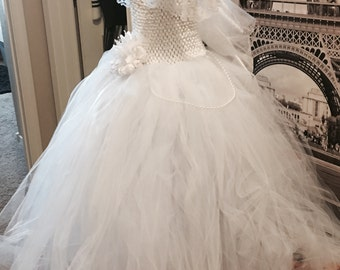 White tulle special occassion dress