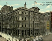 U.S. Post Office Philadelphia Pennsylvania 9th & Market Streets Vintage Postcard 1911
