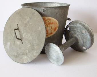 WASHING galvanized zinc - VINTAGE - toy children - 1950 - old toys - FRENCH Toys - Toys