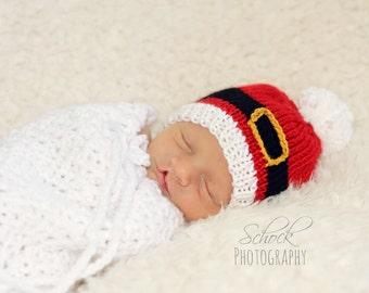 Santa Baby Hat • Baby Santa Hat • Santa Newborn Hat • Newborn Santa Hat • Christmas Baby Hat • Christmas Newborn Hat • Santa Newborn Prop