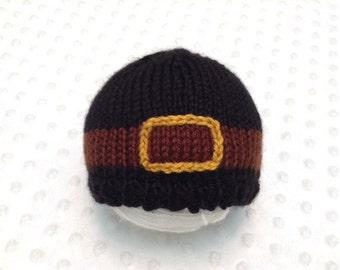Thanksgiving Baby Hat - Pilgrim Baby Hat - Fall Baby Hat - Holiday Baby Hat - Puritan Baby Hat - Thanksgiving Photo Prop