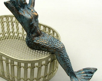 Cast Iron Mermaid - Beach Decor - Nautical Decor