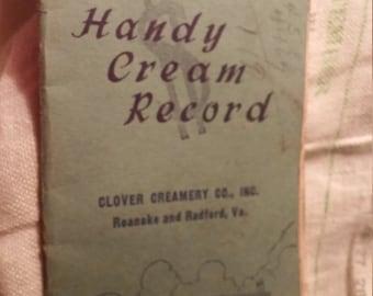 Clover Creamry Co. Roanoke and Radford Virginia. 1945 1946 calendar.