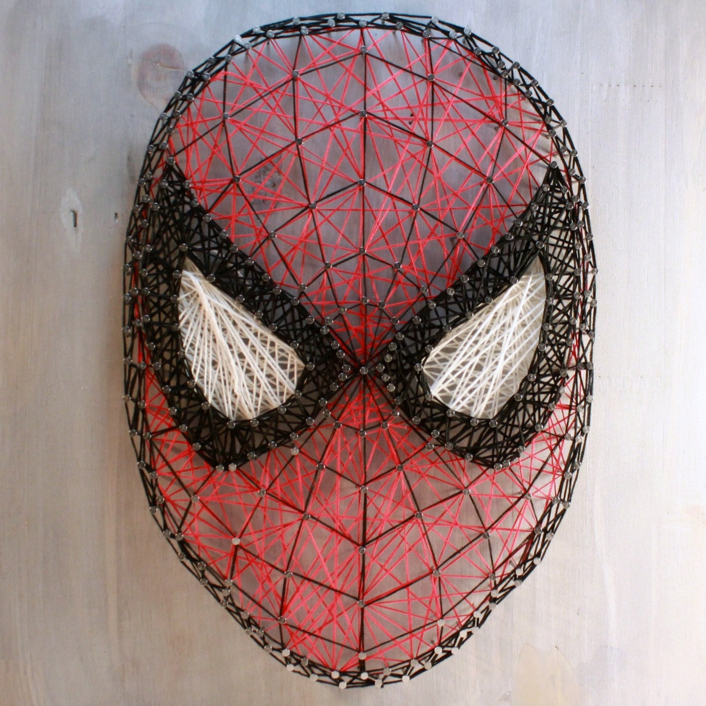 Spiderman String Art Hanging Wall Decor By Eclecticcabin