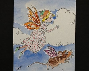 Fairy Mouse painting